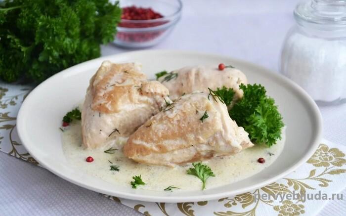 курица в чесночно-сметанном маринаде