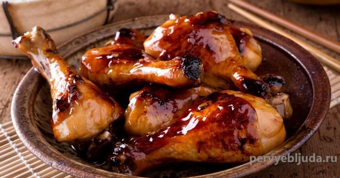 курица в маринаде из соевого соуса