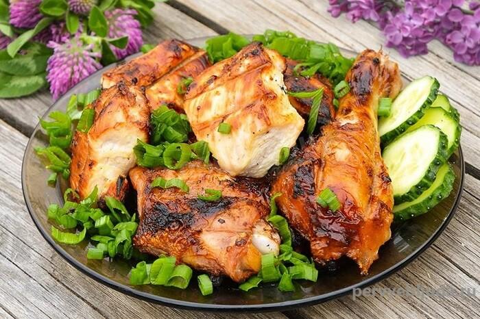 запеченная курица в маринаде из уксуса